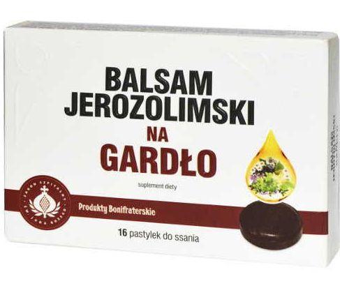balsam jerozolimski na gardło