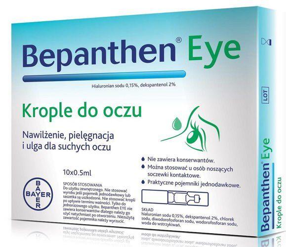 krople nawilżające do oka bepanthen