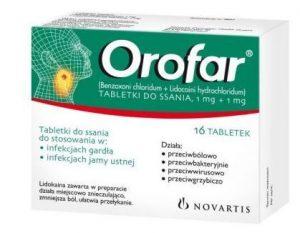 tabletki na ból gardła orofar
